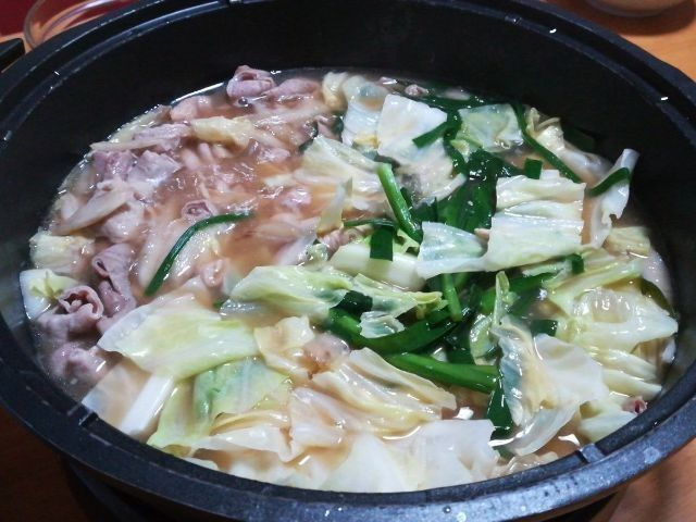 グリル鍋でお鍋料理