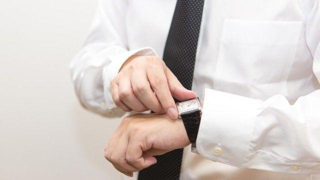 サラリーマンと腕時計